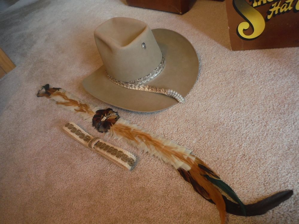 878318502a0 Resistol 7 1 8 Stagecoach Western Hat Self Conforming Classic LN Hat 3  Bands