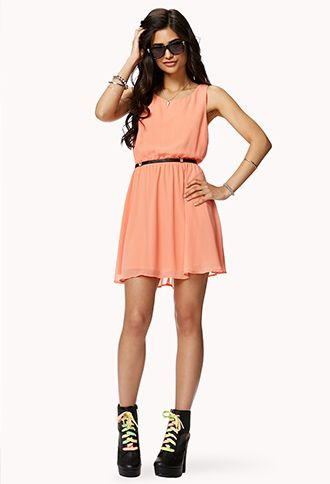 Oh to be 20 again and wear this - Crisscross Back Sleeveless Dress | FOREVER 21 - 2050039310