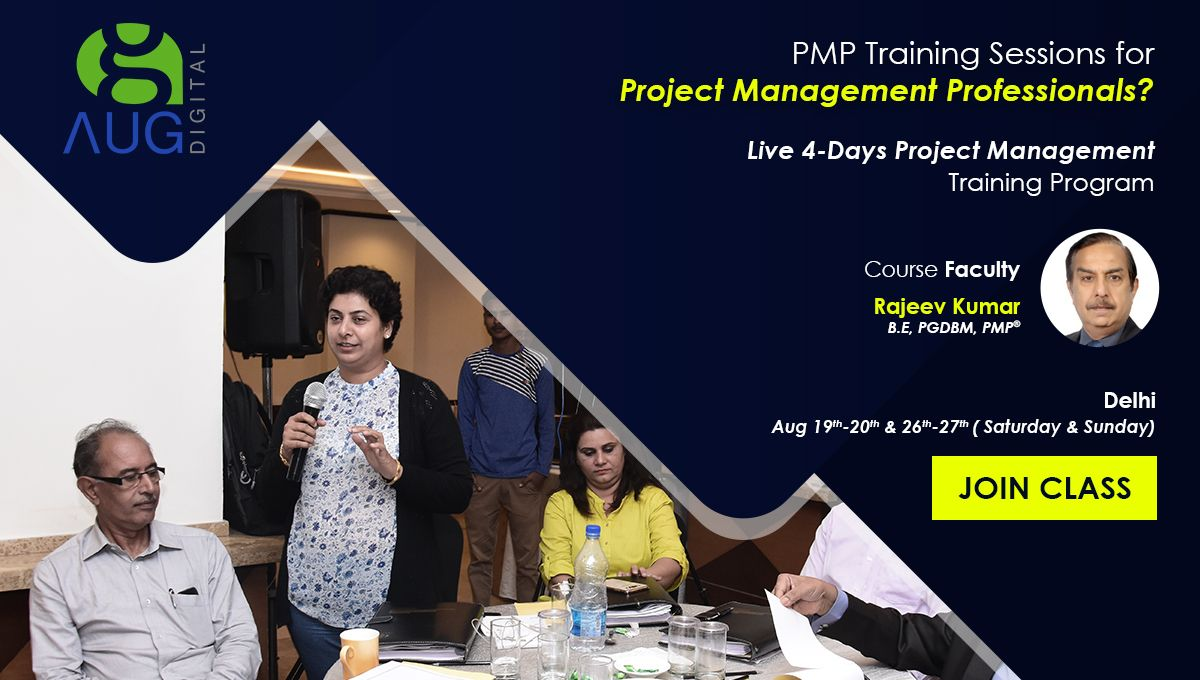 Aug Digital Is Organizing Pmp Certification Classes From 19th August