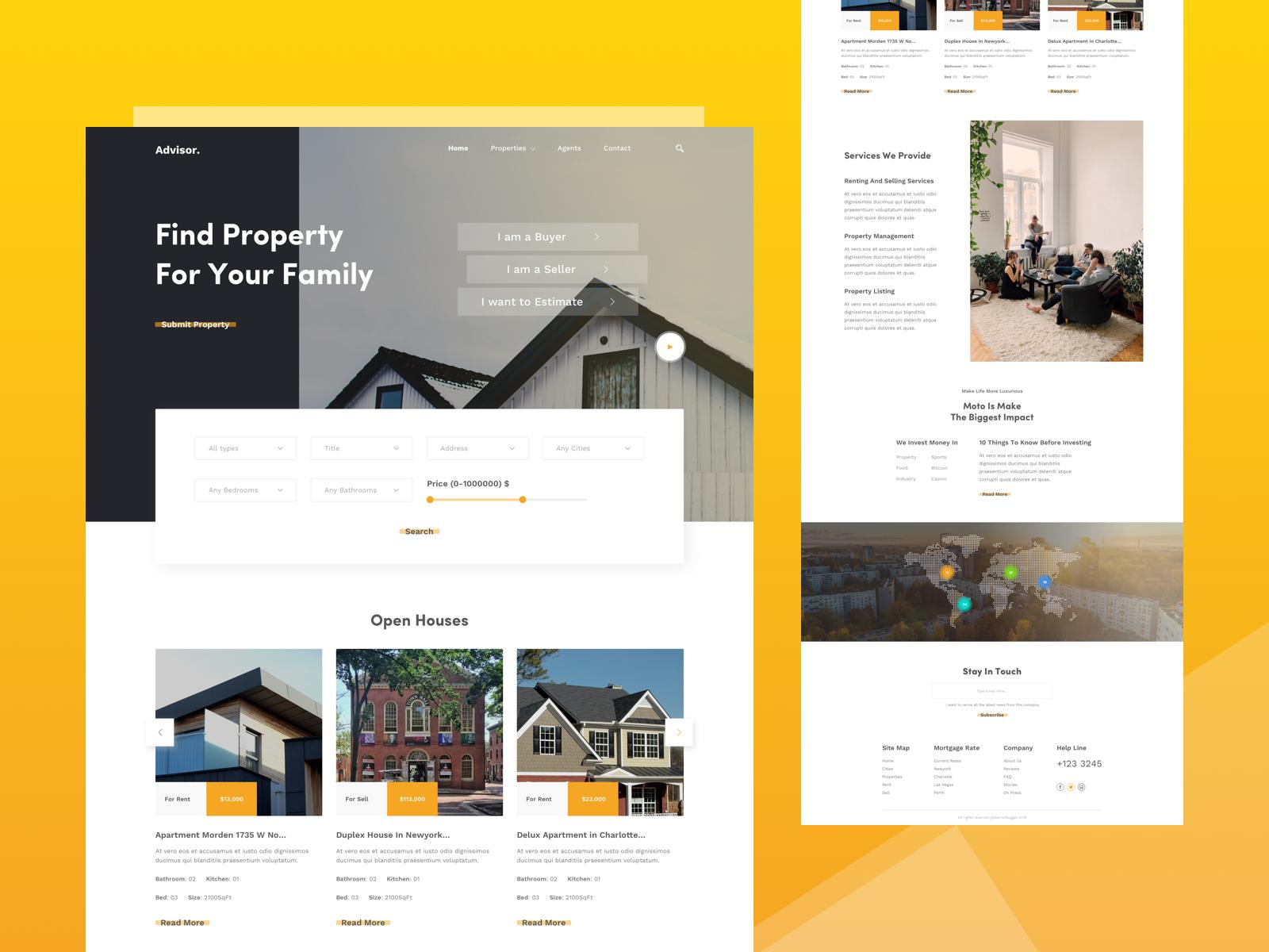 Real Estate Homepage Concept Creative Website Design Web Inspiration Real Estate