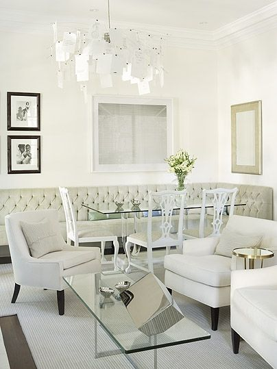 Chairs in white