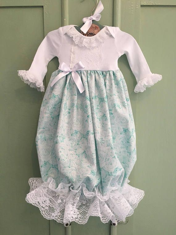 Newborn Girl Take Me Home Outfit, Vintage Style Infant Gown, Coming ...