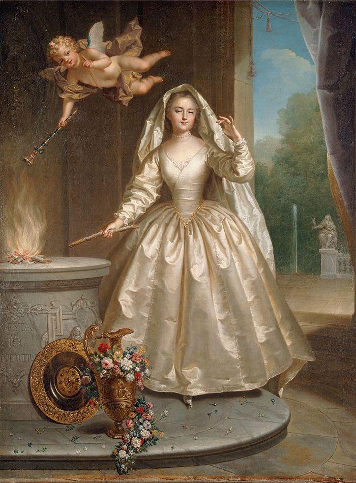 Jean Raoux, Madame Boucher als Vestalin, ca. 1730 80 x 63,5 cm.