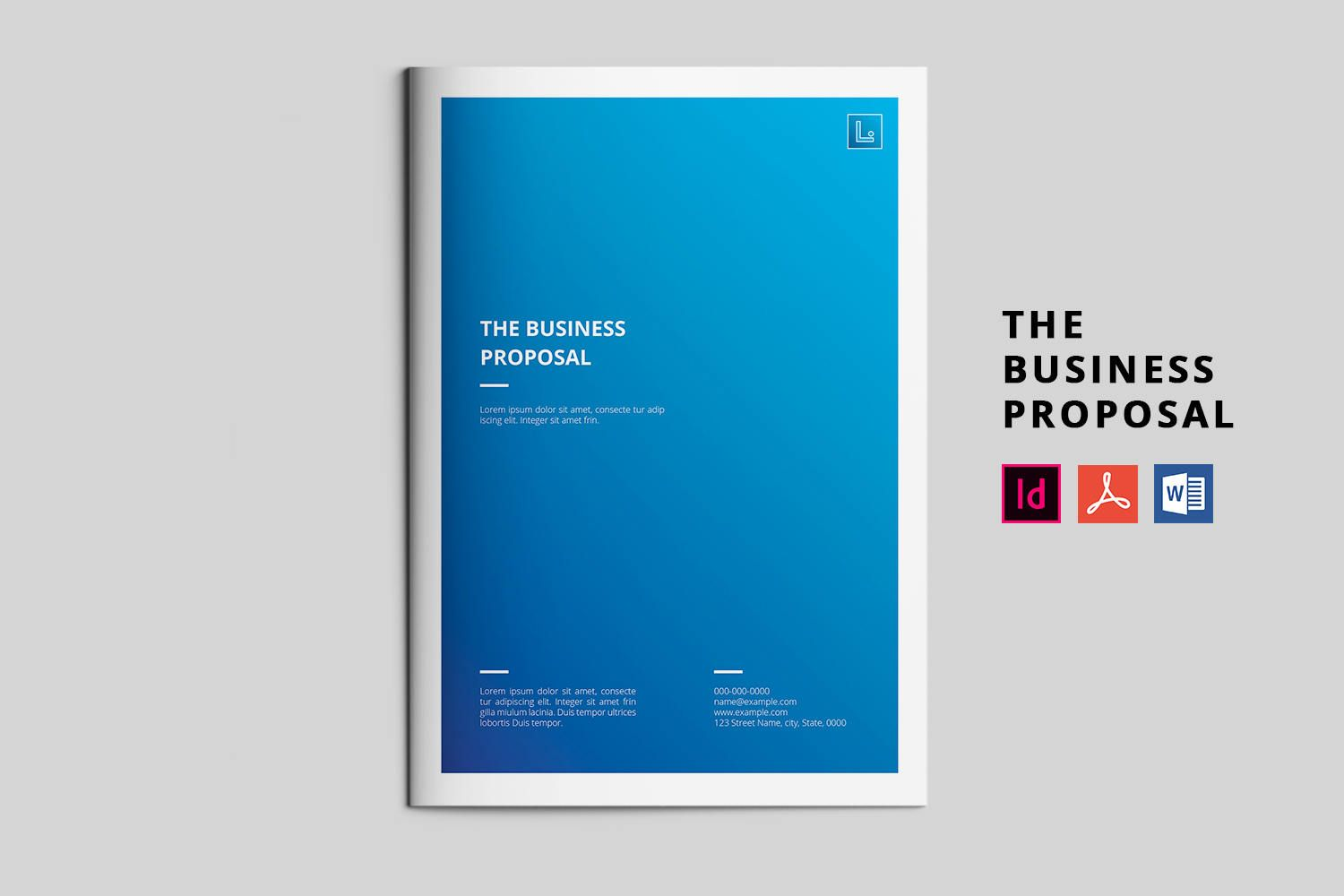 Business Proposal Template Project Proposal Indesign Ms Word