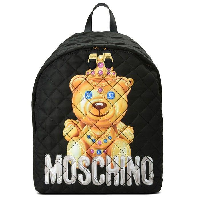 Moschino big Teddy backpack - Black B9ENmy