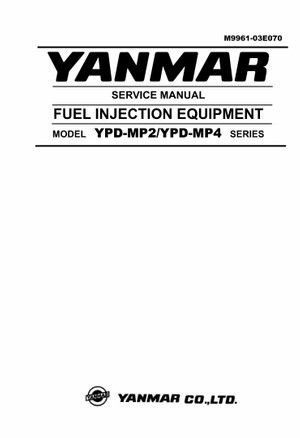 Yanmar Fuel Injection Equipment Model YPD-MP2 , YPD-MP4