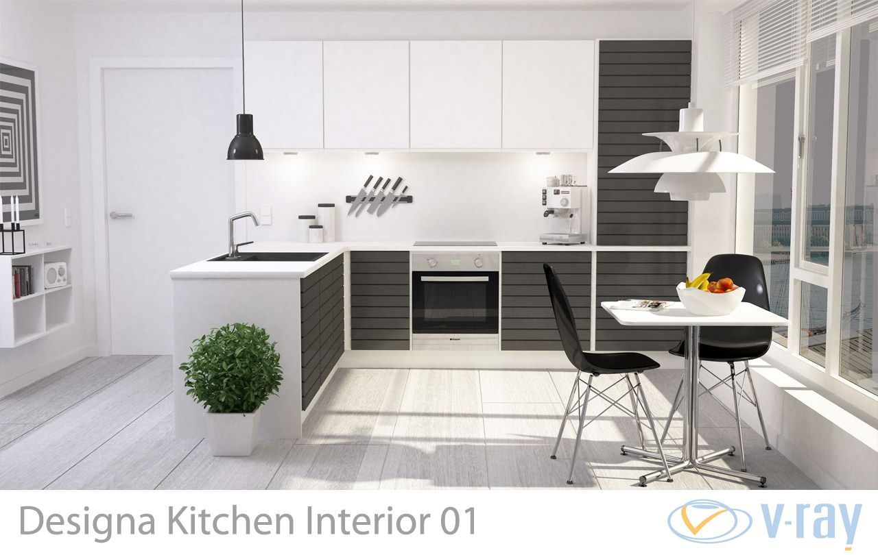 Modern Kitchen Interior 001 3d Model Interior Kitchen Model In 2020 Kuchengestaltung Moderne Kuchendesigns Kucheneinrichtung