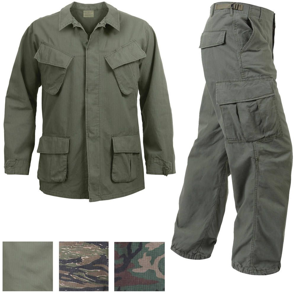 Vietnam Jungle Fatigues Military Uniform Vintage Army BDU Ripstop Tactical  Cargo  ArmyUniverse  Cargo 9b714584615