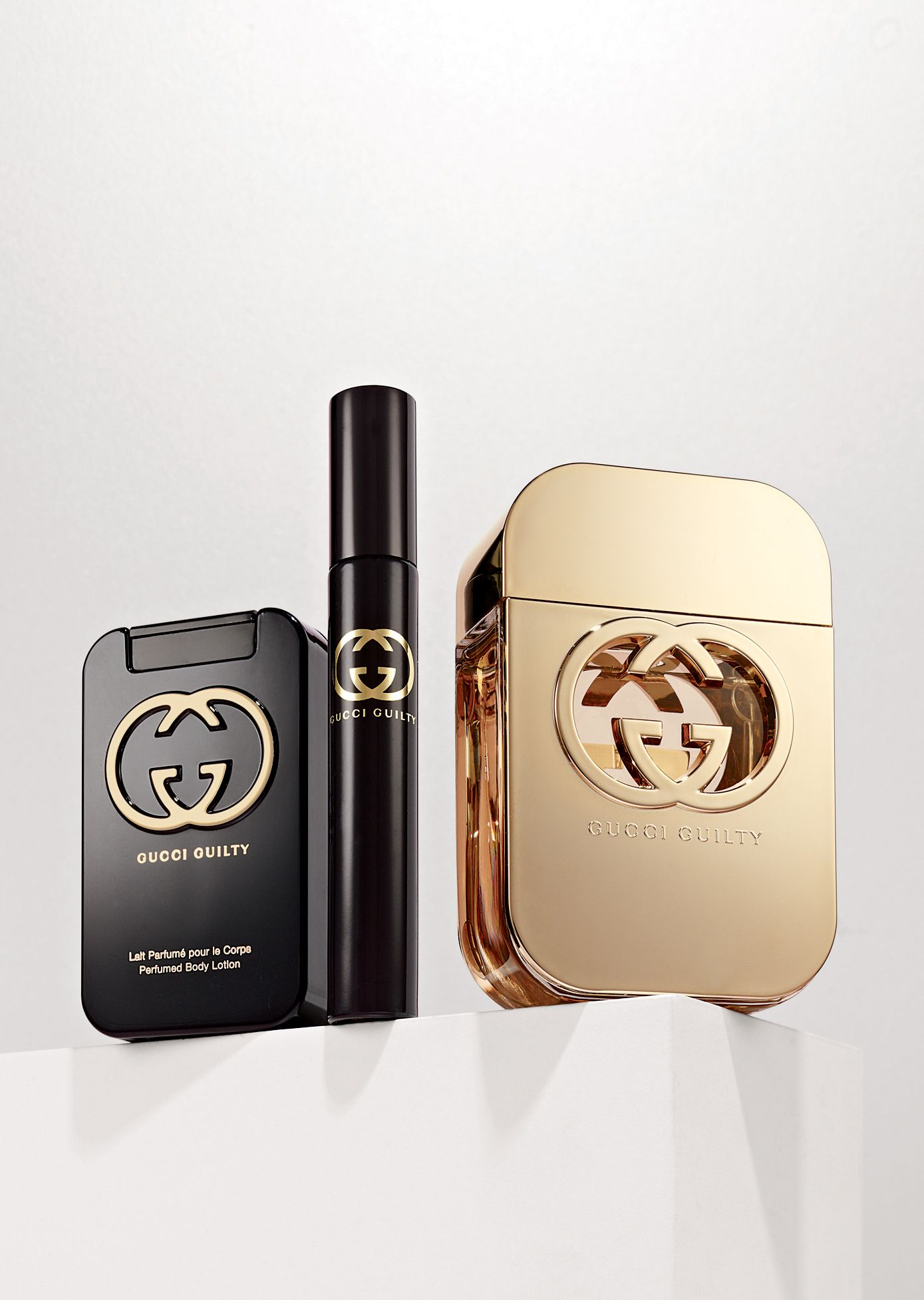 Black and gold  Gucci  Guilty pour Femme  gift set   By the Book ... e96591adf44