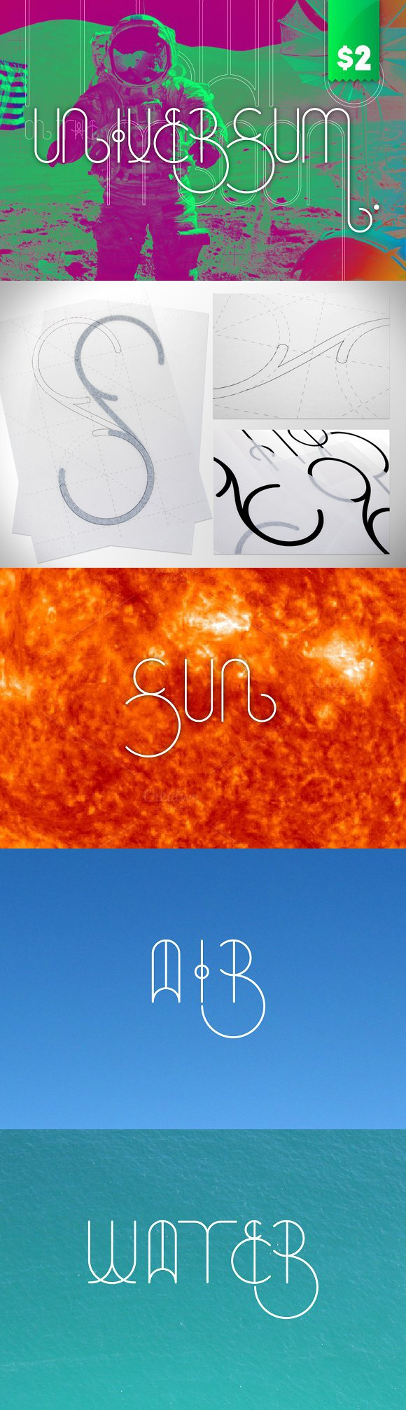 Universum. Display Fonts. $2.00
