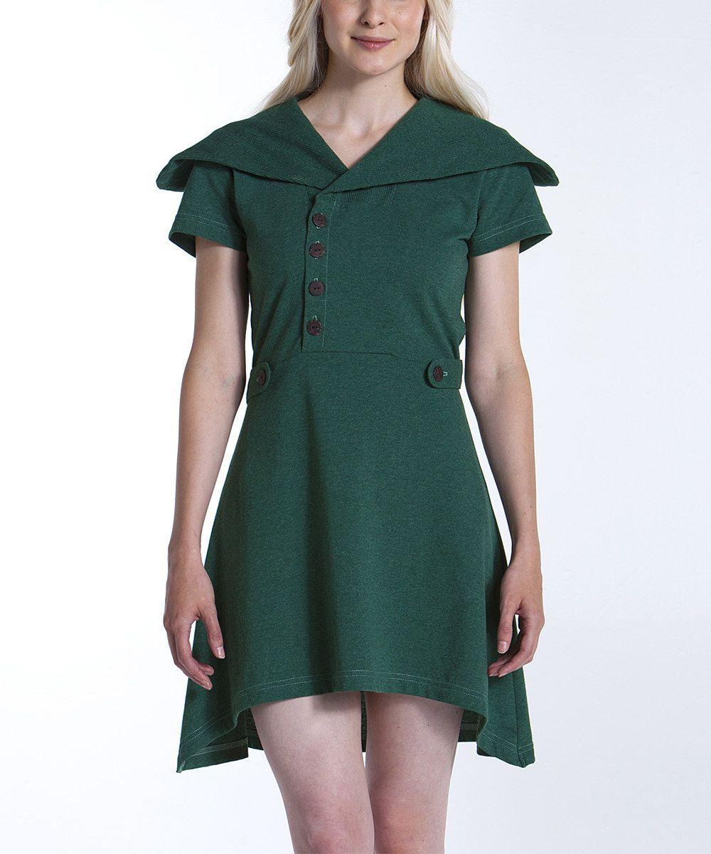 Moss Sweet Pea Sidetail Dress