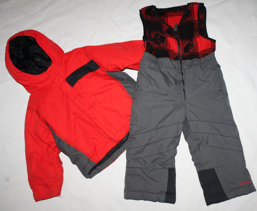 Columbia Boys Buga Set Ski Jacket Snow Bib Pants 3t 3