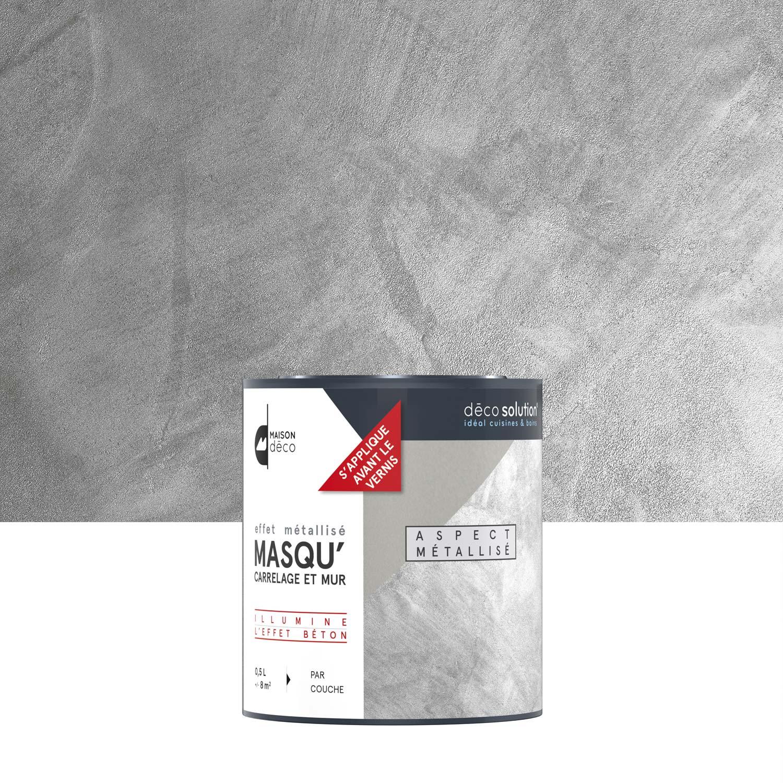 Vernis Masqu Carrelage Et Mur Maison Deco Metallise 0 5 Kg En 2020 Carrelage Deco Gris Metallise