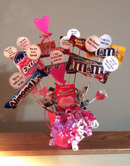 with valentines day coming up making and selling candy bouquets, Ideas