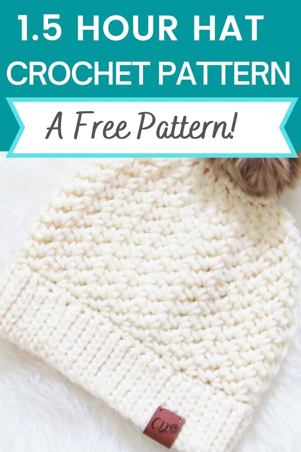 Do you love simple and easy hat crochet patterns? Then this free chunky beanie
