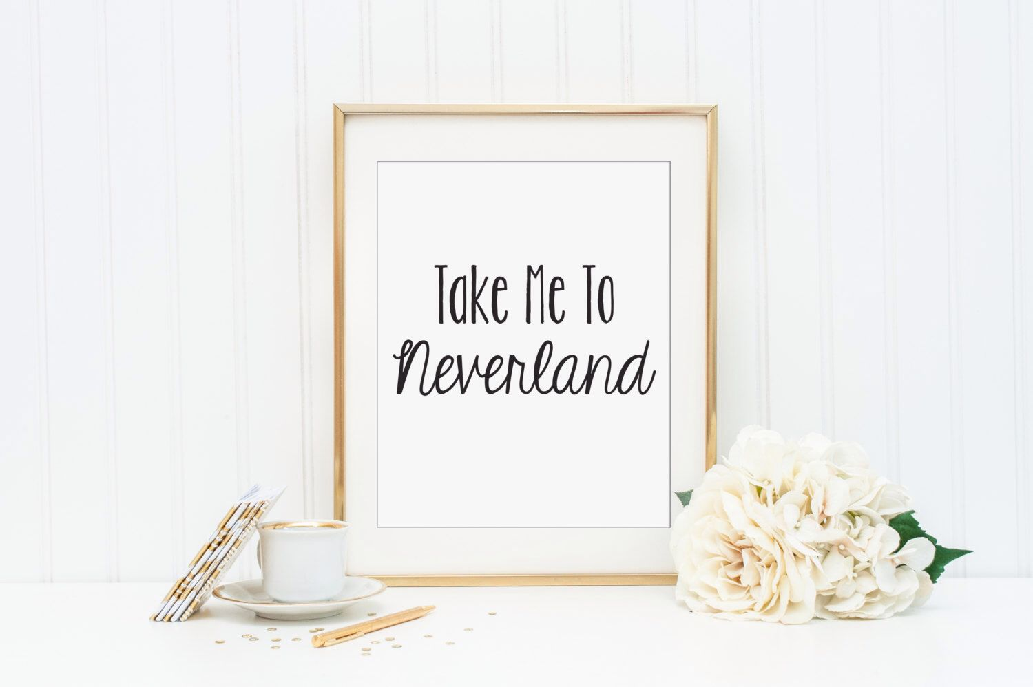 Take Me To Neverland Printable - INSTANT DOWNLOAD Printable - book ...