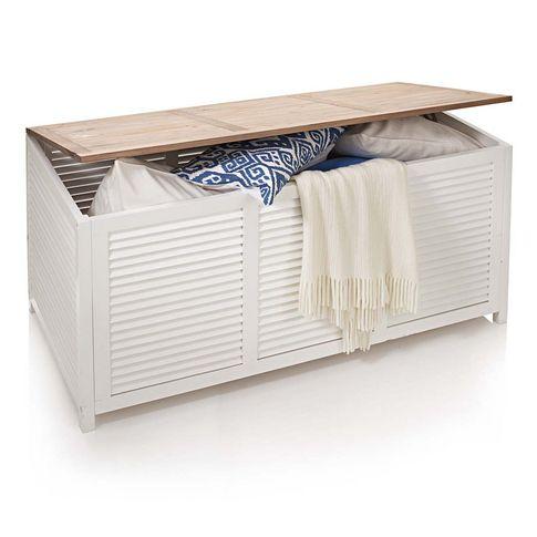 Kissenbox in natur weiß bei IMPRESSIONEN für Flur oder - sideboard für schlafzimmer