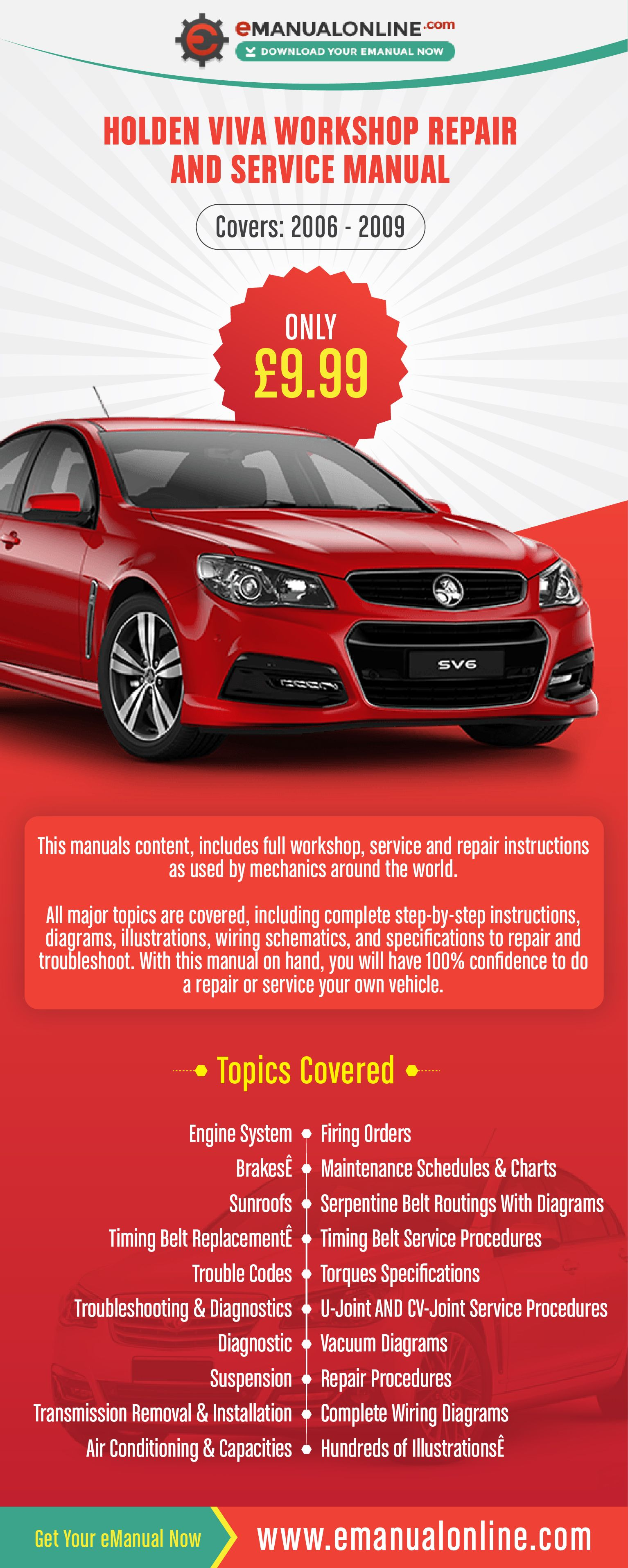 medium resolution of holden viva workshop repair and service manual this manuals content includes full workshop service and repair instructions as used by mechanics around the