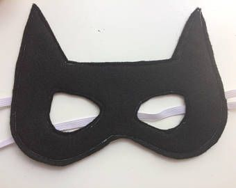 Felt Batman - Bat girl - Catwoman mask - Felt superhero masks ...