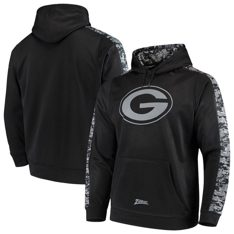 Green Bay Packers Zubaz Digi Camo Pullover Hoodie Black Black Hoodie Pullover Hoodie Hoodies
