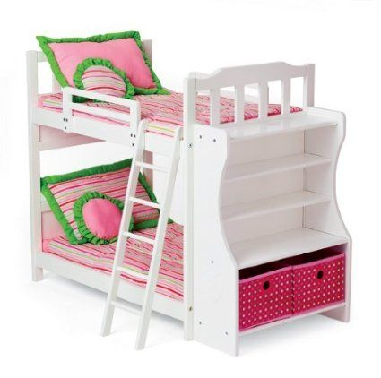 My Twinn Doll S Heart Bunkbed With Images Doll Bunk Beds Bunk