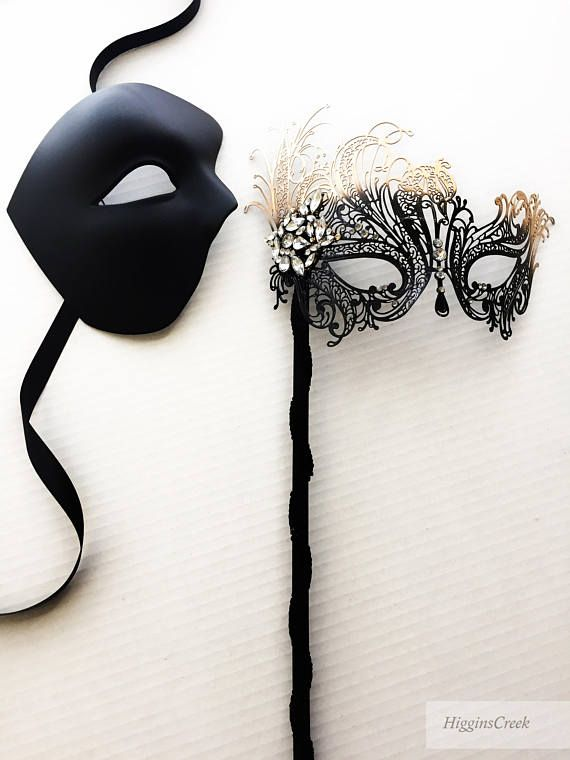 Masquerade Mask for Couples Women and Men 3 Pack Venetian Gold and Black Lace