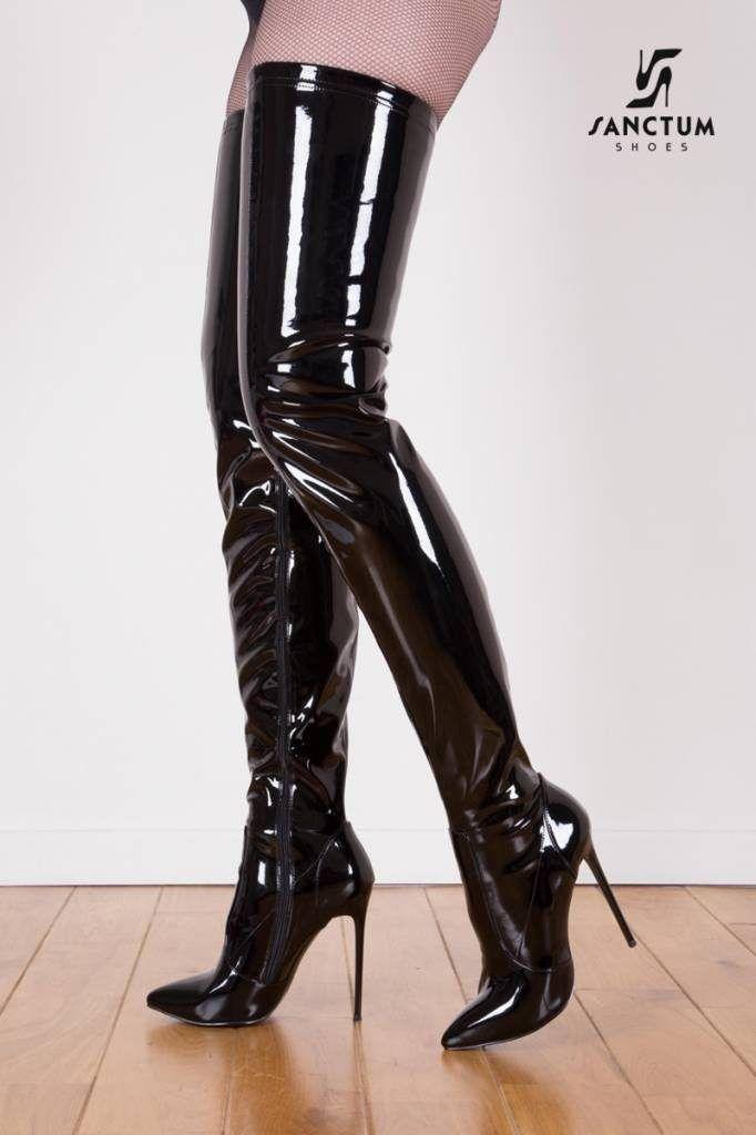 2fa9c82b34a thigh high boots … giaro black shiny giaro WMYEIIZ