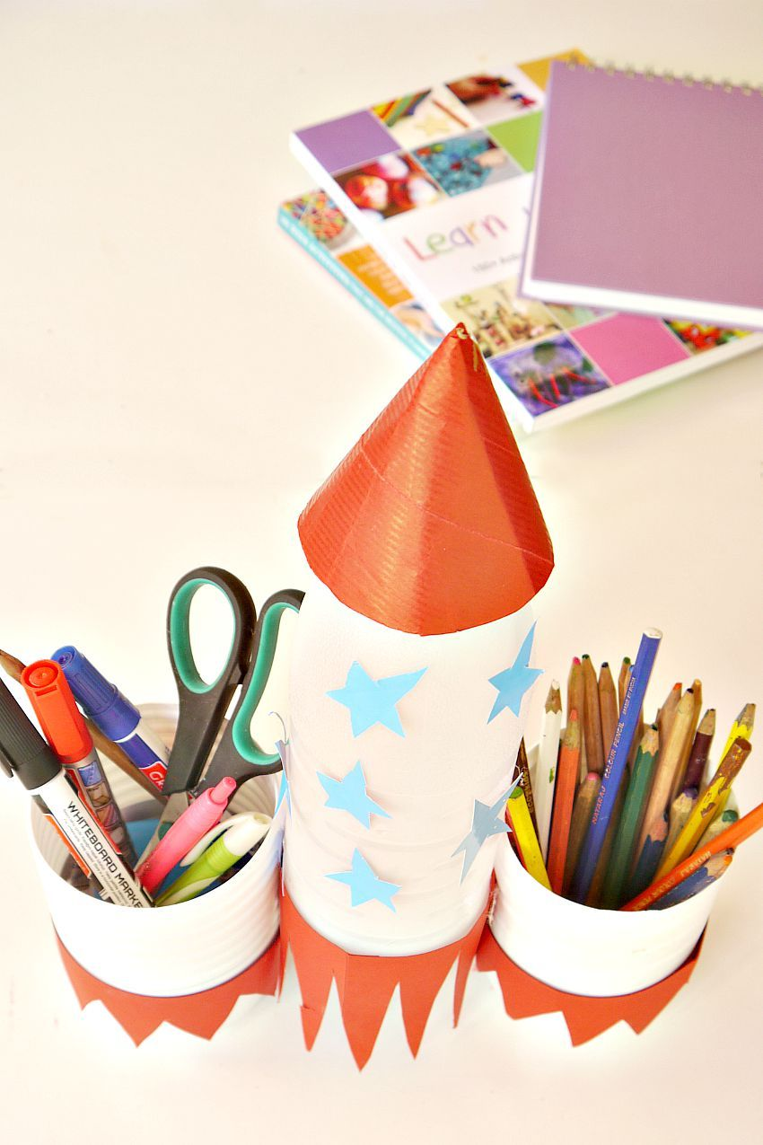 Pencil Holder Rocket Denenecek Projeler Pinterest Crafts For