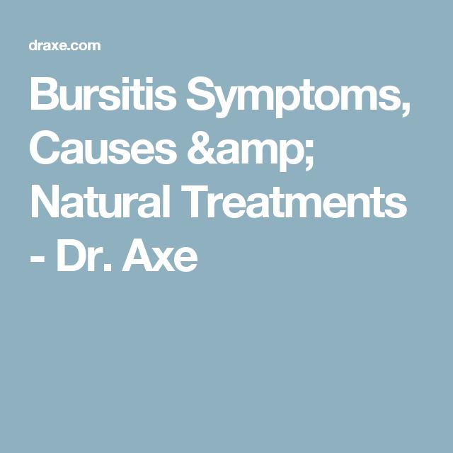 Bursitis Symptoms, Causes & Natural Treatments - Dr. Axe