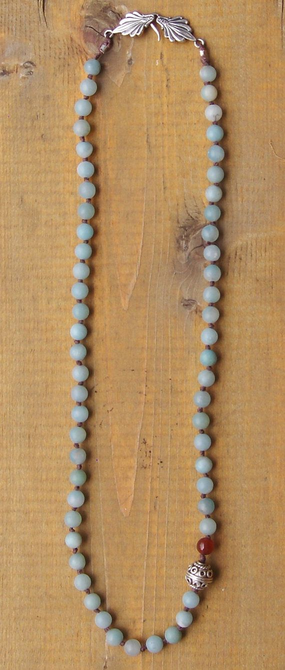 Acid Washed Amazonite with Sterling Silver and by BellaMiJewelry, $45.00