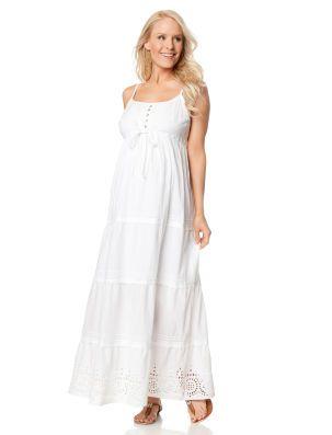 Summer White Maxi Maternity Dresses