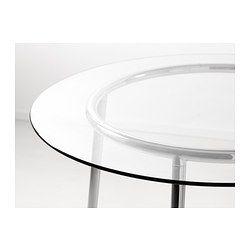 Salmi Table Glass Chrome Plated Chrome Plating Kitchen Decor