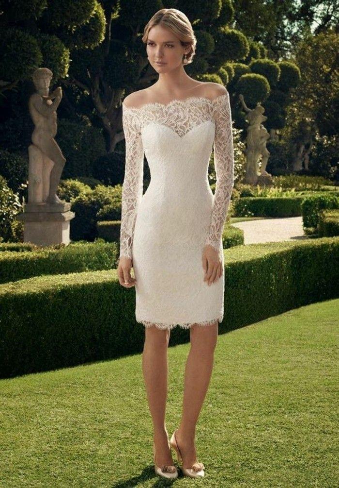 vestidos-de-novia-sencillos-encaje-elegante-cuello-corazon | novias ...
