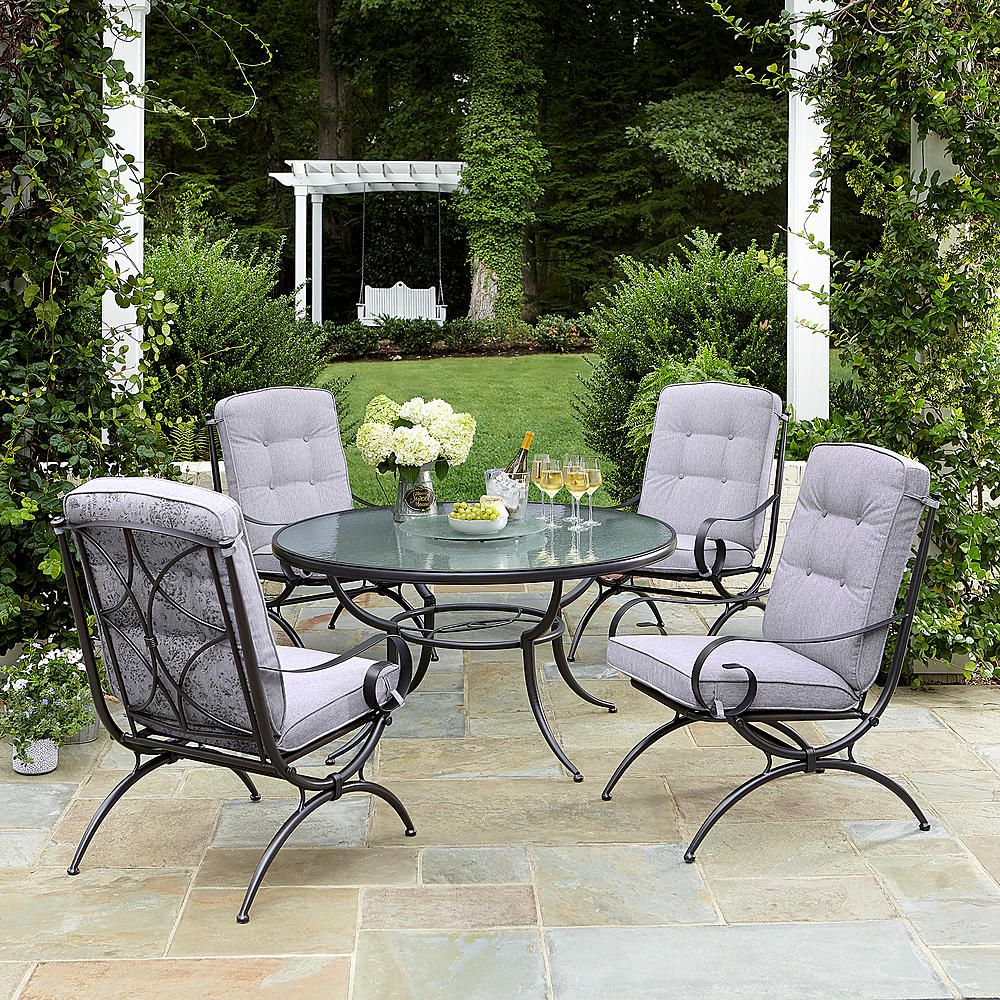 24++ Jaclyn smith centralia 5pc dining set gray Top