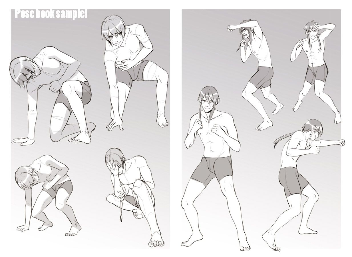 Boys expression and pose book sample by goku no baka deviantart com on deviantart