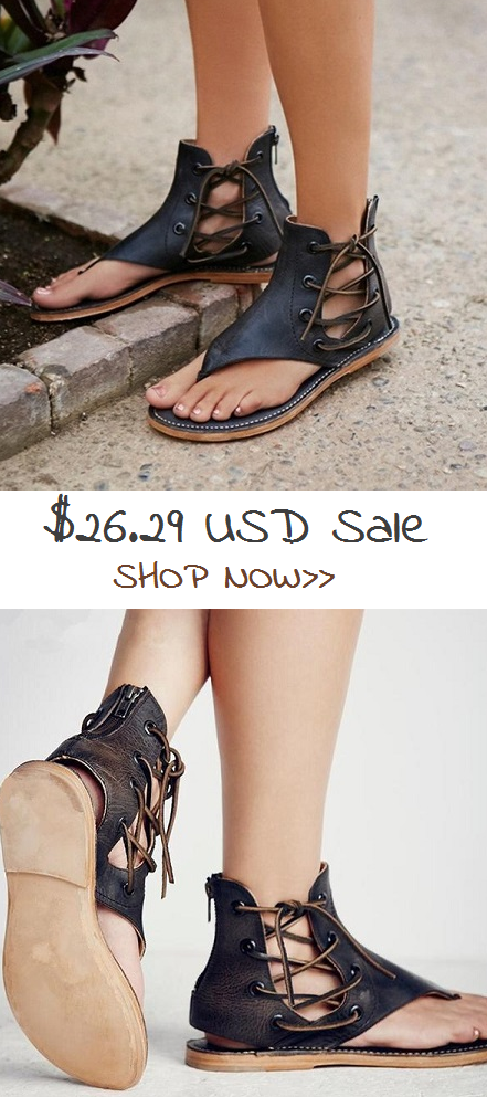 7f4df1a53  26.29 USD Sale Shoes.Shop Now! New Fashion Women Leisure Lace up Flat  Sandals