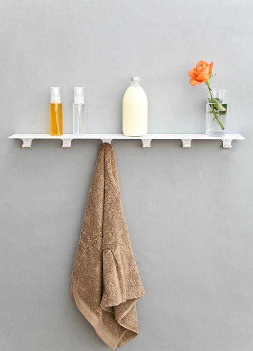 Minimalist Storage Shelf With Hooks For Kitchen Bathroom Or Hallway Wall Shelf With Hooks Modern Wall Shelf Kitchen Wall Shelves