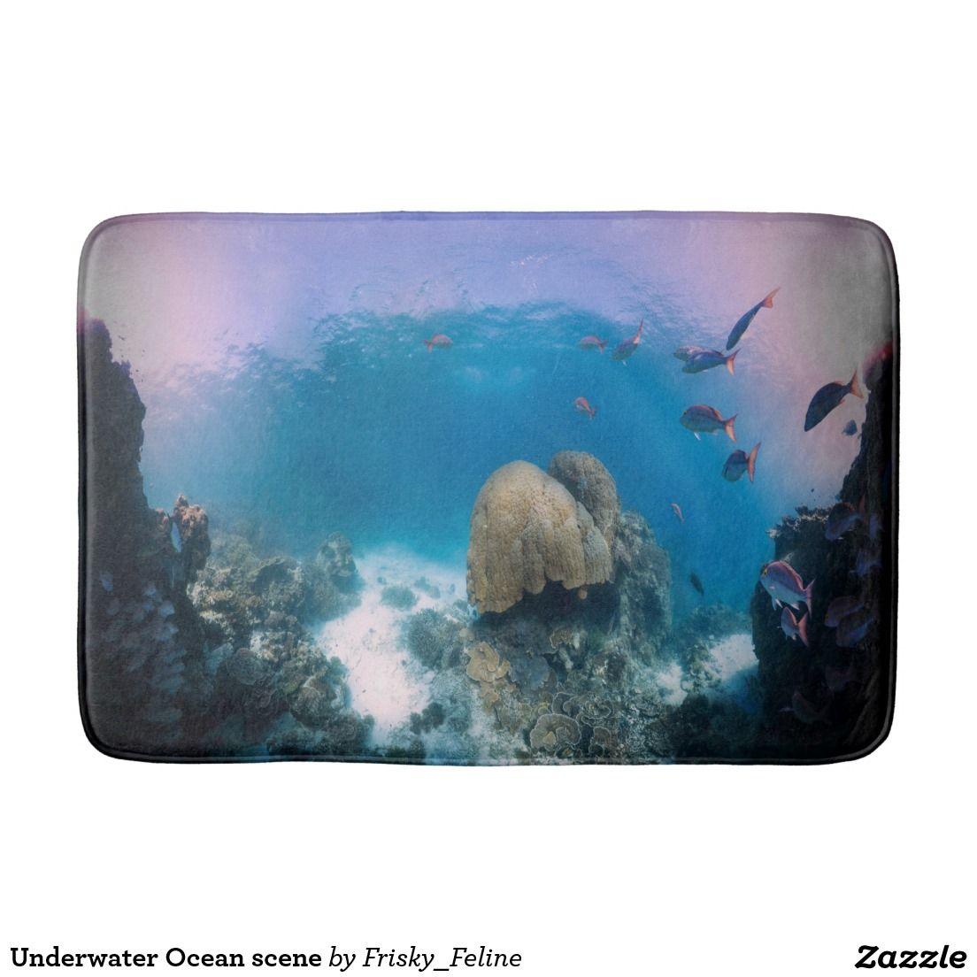 underwater ocean scene bath mat pillows blankets
