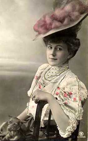 victorian ladies images | and-tinted photograph, Victorian lady with chihuahua.