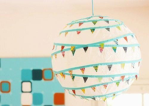 Lampadario Carta Di Riso : Lampada carta di riso con decorazioni washi tape cameretta