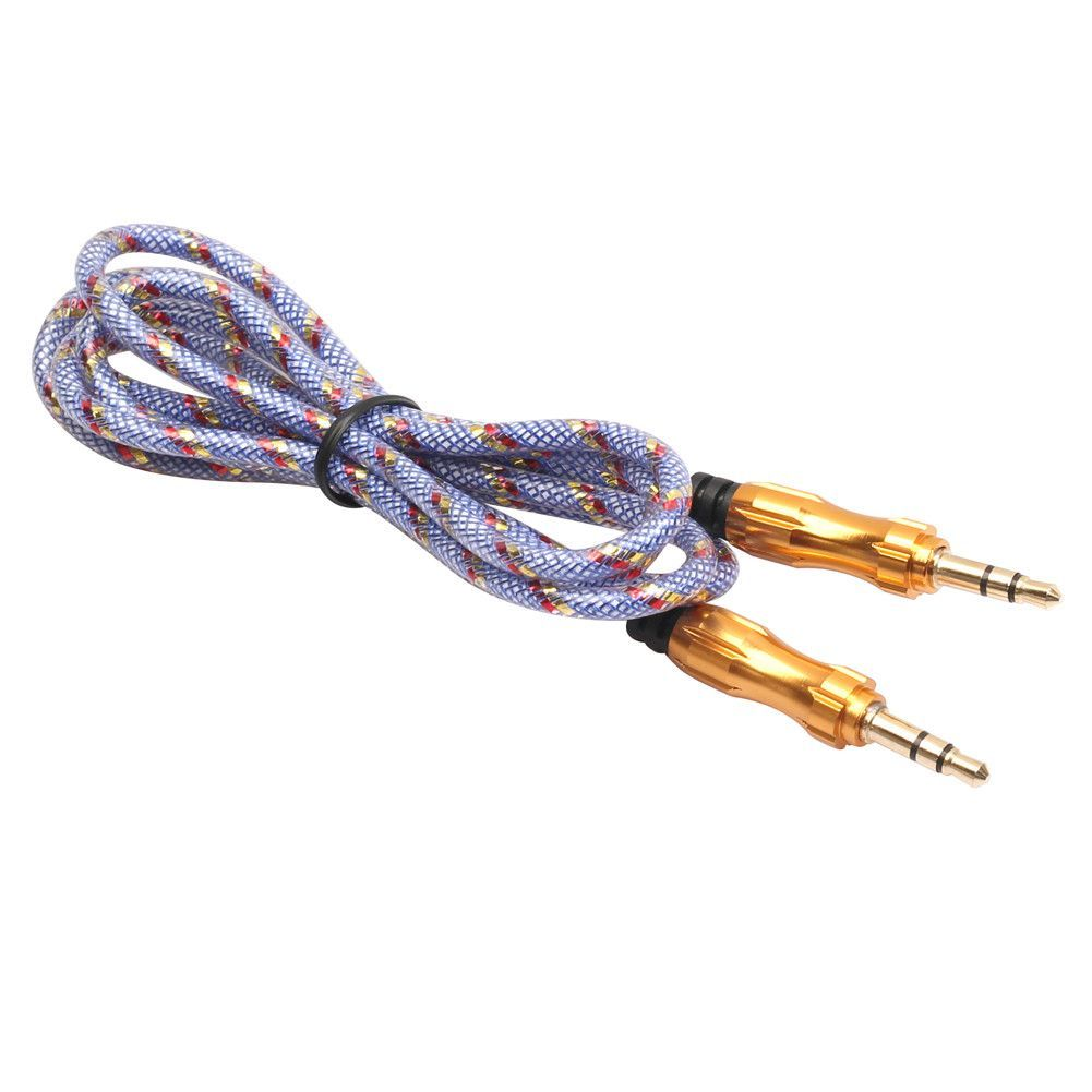 1m 3 5mm To Car Aux Auxiliary Cord Stereo Audio Cable For Phone Ipod Macbook Pc Mp4 Smartphone Accessories Male Male