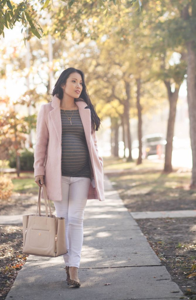 40f5b3db25be8 cute & little blog   petite fashion   maternity baby bump pregnant   pink  wool coat