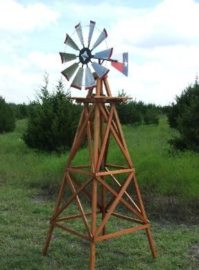 Texas Lonestar 10 Ft Windmill Kit Complete With Wood Stand Free