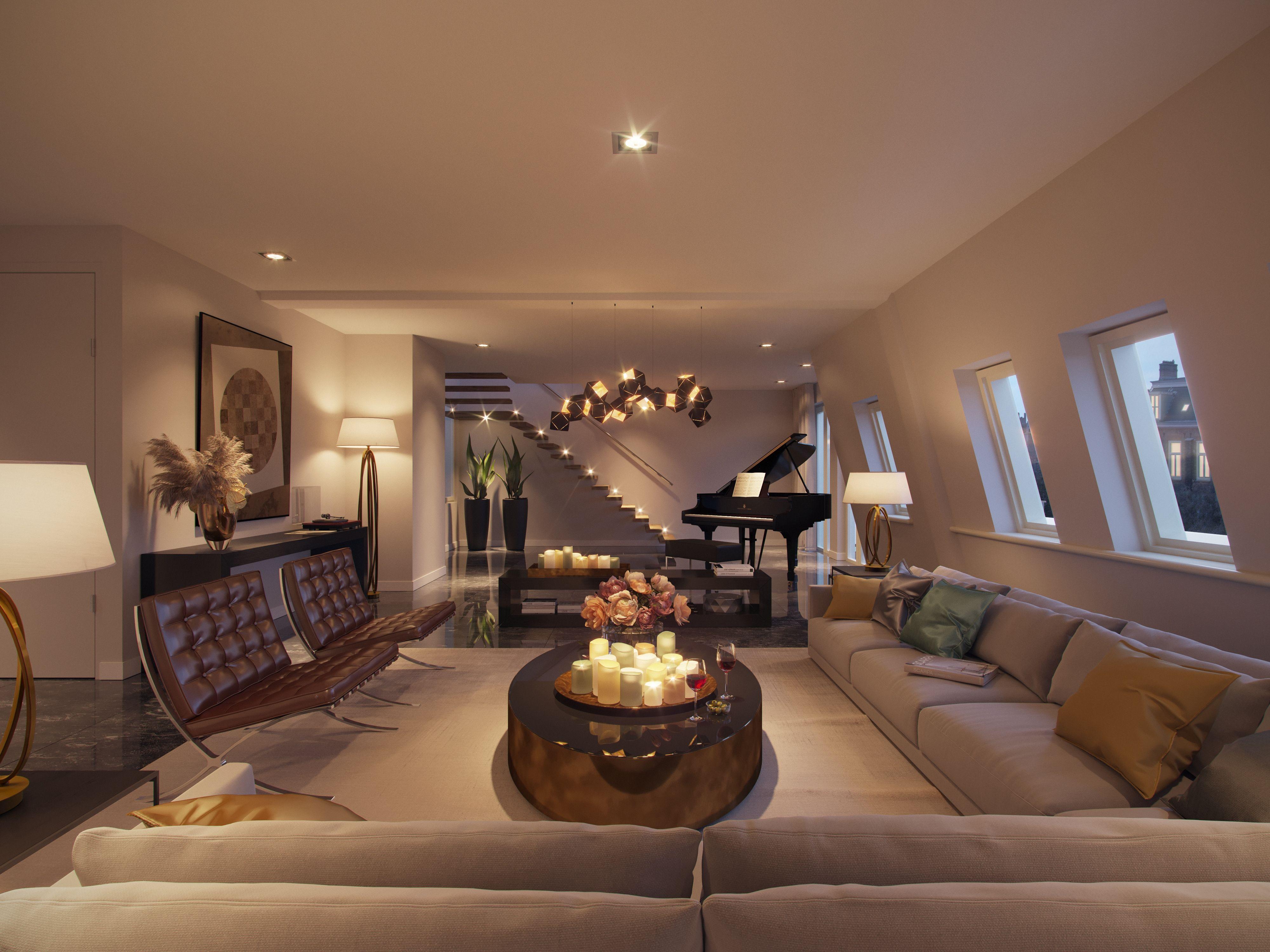 Te koop living spaces pent house home decor interior