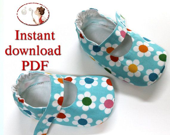 Instant download Sewing Pattern. Baby Lilly shoes. PDF. DIY. Sewing ...