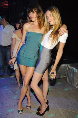 Google Image Result for http://www3.images.coolspotters.com/photos/249985/byrdie-bell-and-herve-leger-charlotte-mini-skirt-gallery.jpg    LOVE Lou Doillon's dress + shoes + no makeup - the only way I'd ever wear a bandeau dress