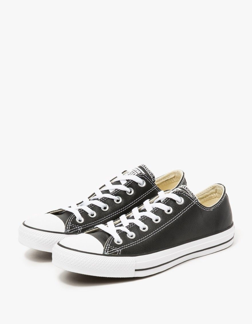 4b70409fd6d582 Converse   Leather Low Top in Black