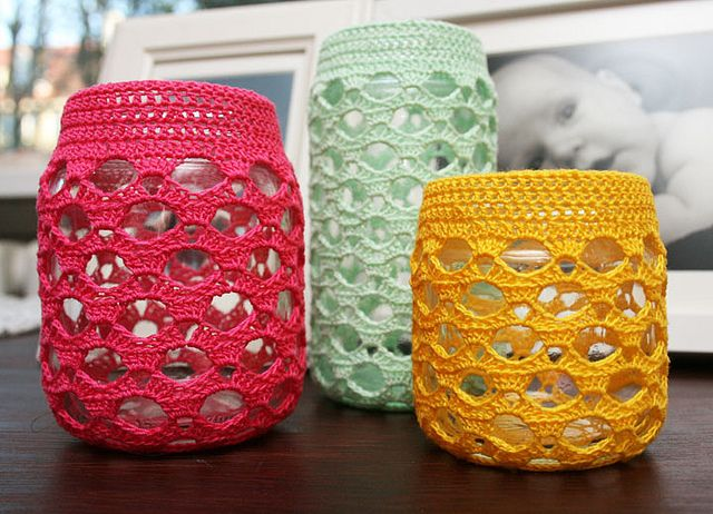 images about Misc-crochet jar covers Crochet