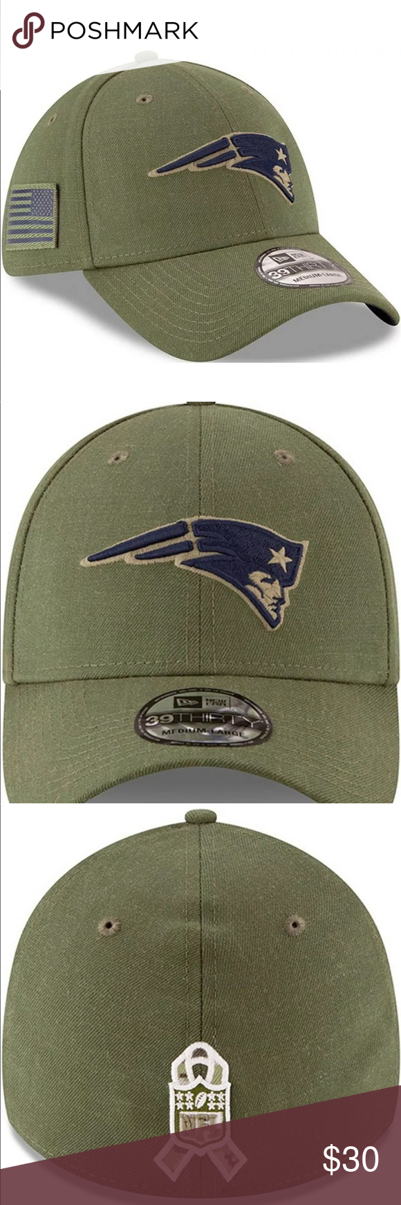 New England Patriots New Era Salute To Service SzL New England Patriots New Era 39Thirty Salute To Service Military Hat Cap L New New Era Accessories Hats #salutetoservice
