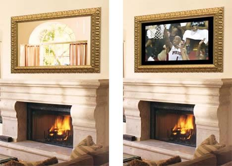 Hiddenwires Solutions For Concealing The Tv Tv Above Fireplace